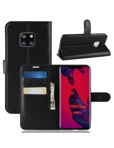 Oldalra nyíló tok Huawei Mate 20 Pro telefonhoz - FEKETE