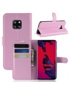 Oldalra nyíló tok Huawei Mate 20 Pro telefonhoz - RÓZSASZÍN