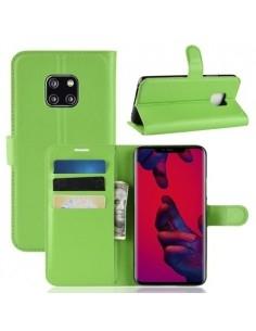 Oldalra nyíló tok Huawei Mate 20 Pro telefonhoz - ZÖLD