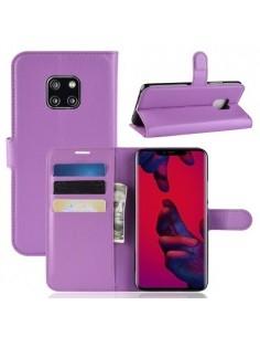 Oldalra nyíló tok Huawei Mate 20 Pro telefonhoz - LILA
