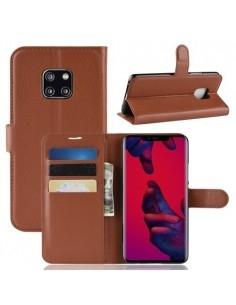 Oldalra nyíló tok Huawei Mate 20 Pro telefonhoz - BARNA