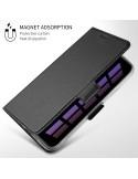 Ultravékony rejtett mágneses notesztok Huawei Mate 20 Pro telefonhoz - FEKETE