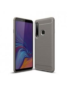 Samsung Galaxy A9 (2018) karbon mintás tok - SZÜRKE