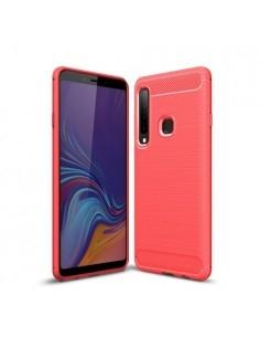 Samsung Galaxy A9 (2018) karbon mintás tok - PIROS