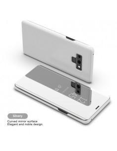 Flip telefontok átlátszó előlappal Samsung Galaxy Note 9 készülékhez - EZÜST