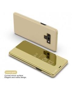 Flip telefontok átlátszó előlappal Samsung Galaxy Note 9 készülékhez - ARANY