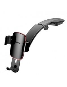 BASEUS Metal Age Gravity autó műszerfalra rögzíthető univerzális telefon tartó - FEKETE