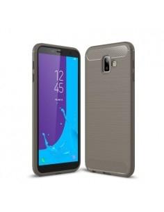 Samsung Galaxy J6 Plus karbon mintás tok - SZÜRKE