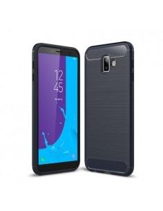 Samsung Galaxy J6 Plus karbon mintás tok - KÉK