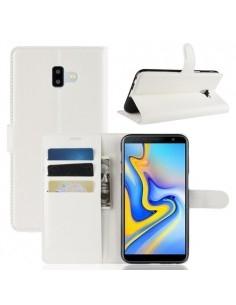 Oldalra nyíló tok Samsung Galaxy J6 Plus telefonhoz - FEHÉR