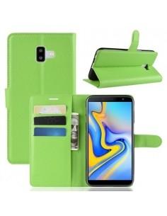 Oldalra nyíló tok Samsung Galaxy J6 Plus telefonhoz - ZÖLD