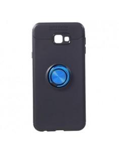 Samsung Galaxy J4 Plus gyűrűs tok - FEKETE/KÉK