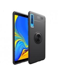 Samsung Galaxy A7 (2018) gyűrűs tok - FEKETE