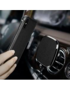 NILLKIN autó szellőzőrácsra rögzíthető mágneses vezeték nélküli autós töltő - Bőr borítással - FEKETE