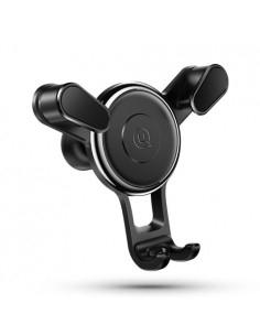 USAMS autó szellőzőrácsra helyezhető univerzális telefon autós tartó - FEKETE