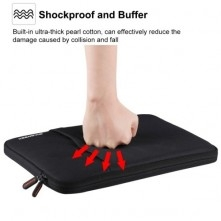 HAWEEL univerzális vízhatlan, ütéselnyelő laptop / notebook tok max. 15 colos készülékekhez - FEKETE