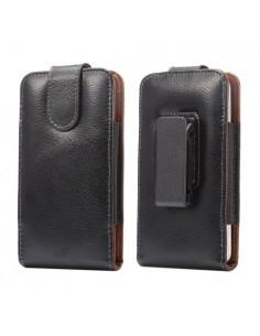 Övre rögzíthető fekete színű mobiltelefon tartó tok erős csipesszel - FEKETE