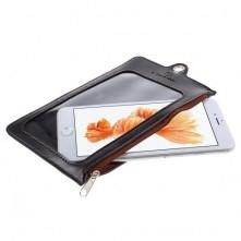 CASEME ablakos telefontok 4.7 colos készülékekhez - 15.5 x 10 cm - FEKETE
