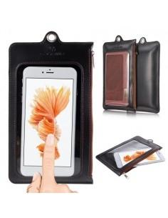 CASEME ablakos telefontok 5.5 colos készülékekhez - 17.5 x 11cm - FEKETE