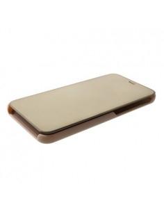 Flip telefontok átlátszó előlappal Samsung Galaxy J6 Plus készülékhez - ARANY