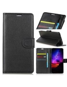 Oldalra nyíló tok Huawei P Smart (2019) / Honor 10 Lite telefonhoz - FEKETE