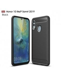 Huawei P Smart (2019) / Honor 10 Lite karbon mintás tok - FEKETE