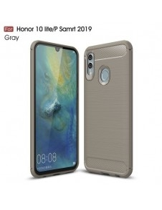 Huawei P Smart (2019) / Honor 10 Lite karbon mintás tok - SZÜRKE