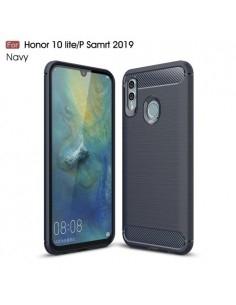 Huawei P Smart (2019) / Honor 10 Lite karbon mintás tok - KÉK