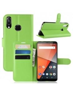 Oldalra nyíló tok Vodafone Smart X9 telefonhoz - ZÖLD