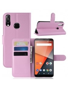 Oldalra nyíló tok Vodafone Smart X9 telefonhoz - RÓZSASZÍN