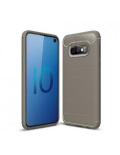 Samsung Galaxy S10 Lite karbon mintás tok - SZÜRKE