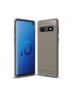 Samsung Galaxy S10 karbon mintás tok - SZÜRKE