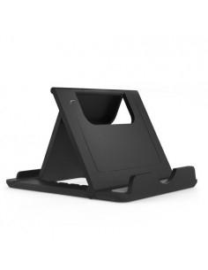 Összecsukható hordozható mobiltelefon, tablet asztali tartó - FEKETE