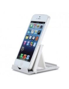 Összecsukható hordozható mobiltelefon, tablet asztali tartó - FEHÉR