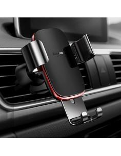 BASEUS Metal Age Gravity autó szellőzőrácsra rögzíthető univerzális telefon tartó - FEKETE