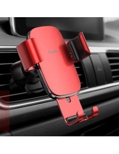 BASEUS Metal Age Gravity autó szellőzőrácsra rögzíthető univerzális telefon tartó - PIROS