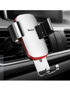 BASEUS Metal Age Gravity autó szellőzőrácsra rögzíthető univerzális telefon tartó - EZÜST