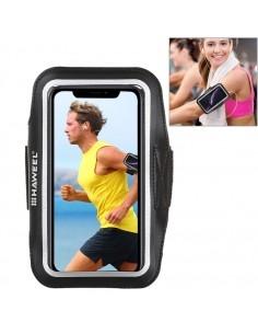 HAWEEL karra csatolható telefontok futáshoz - 7,5*15,5 cm - FEKETE