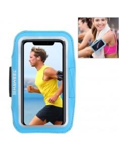 HAWEEL karra csatolható telefontok futáshoz - 7,5*15,5 cm - VILÁGOSKÉK