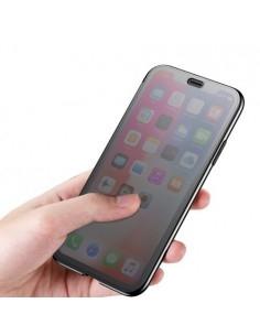 Flip telefontok átlátszó előlappal iPhone Xs készülékhez - FEKETE