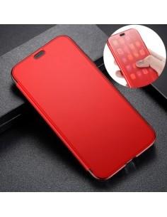 BASEUS flip telefontok átlátszó előlappal iPhone Xs készülékhez - PIROS