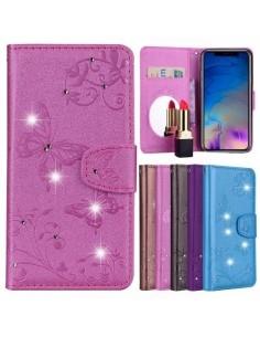 Tükrös csillámos telefontok iPhone XR telefonhoz - PINK