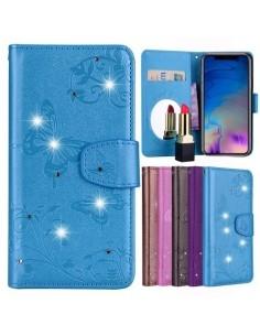 Tükrös csillámos telefontok iPhone XR telefonhoz - KÉK