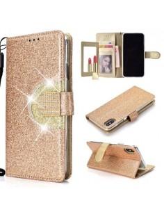 Tükrös csillámos telefontok iPhone XS Max telefonhoz - ARANY