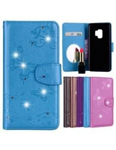 Tükrös csillámos telefontok Samsung Galaxy S9 telefonhoz - KÉK