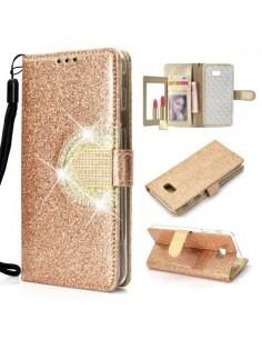 Tükrös csillámos mobiltok Samsung Galaxy J4 Plus telefonhoz - ARANY