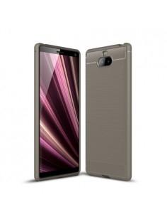 Sony Xperia 10 karbon mintás tok - SZÜRKE