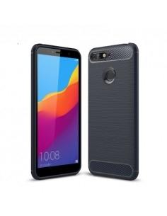 Huawei Honor 7A karbon mintás tok - KÉK