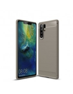 Huawei P30 Pro karbon mintás tok - SZÜRKE