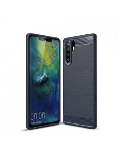 Huawei P30 Pro karbon mintás tok - KÉK
